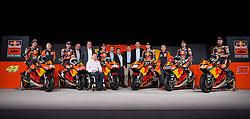 20.02.2017, Munderfing, AUT, Teampräsentation KTM Factory Racing, im Bild v.l. Niccolo Antonelli (ITA), Bo Bendsneyder (NED), Stefan Pierer (KTM CEO), Pit Beirer (KTM Motorsport Director), Pol Espargaro (SPA), Bradley Smith (GBR), Mike Leitner (Moto GP Team Manager), Miguel Oliveira (POR), Brad Binder (RSA) // from left to right Niccolo Antonelli if Italy Bo Bendsneyder of the netherlands Stefan Pierer KTM CEO Pit Beirer KTM Motorsport Director Pol Espargaro of Spain Bradley Smith of Great Britain Mike Leitner KTM Moto GP Team Manager Miguel Oliveira of Portugal Brad Binder of Republic of South Africa during a presentation of KTM factory racing at Munderfing, Austria on 2017/02/20. EXPA Pictures © 2017, PhotoCredit: EXPA/ Reinhard Eisenbauer