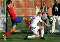 Fotball<br /> Landskamp G15<br /> Stara Pazova - Serbia<br /> Serbia v Norge<br /> 03.10.2012<br /> Foto: Aleksandar Djorovic<br /> NORWAY ONLY<br /> <br /> Henrik Rørvik Bjørdal  - Aalesunds FK<br /> Marko Mijailovic (L) - Serbia