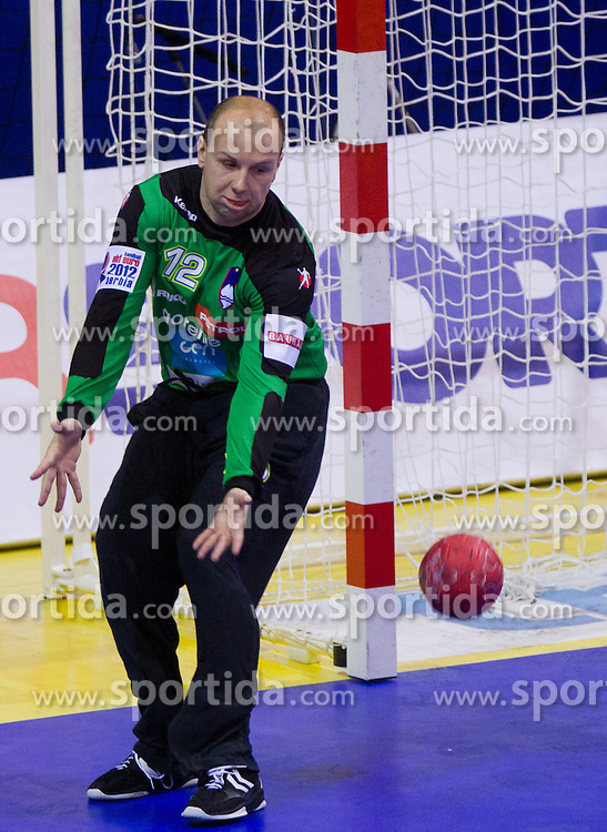 Gorazd Skof of Slovenia during handball match between Slovenia and Croatia in  2nd Round of Preliminary Round of 10th EHF European Handball Championship Serbia 2012, on January 18, 2012 in Millennium Center, Vrsac, Serbia. Croatia defeated Slovenia 31-29. (Photo By Vid Ponikvar / Sportida.com)