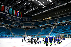 The players and general view of arena at ice hockey practice one day before at IIHF World Championship DIV. I Group A Kazakhstan 2019, on April 28, 2019 in Barys Arena, Nur-Sultan, Kazakhstan. Photo by Matic Klansek Velej / Sportida