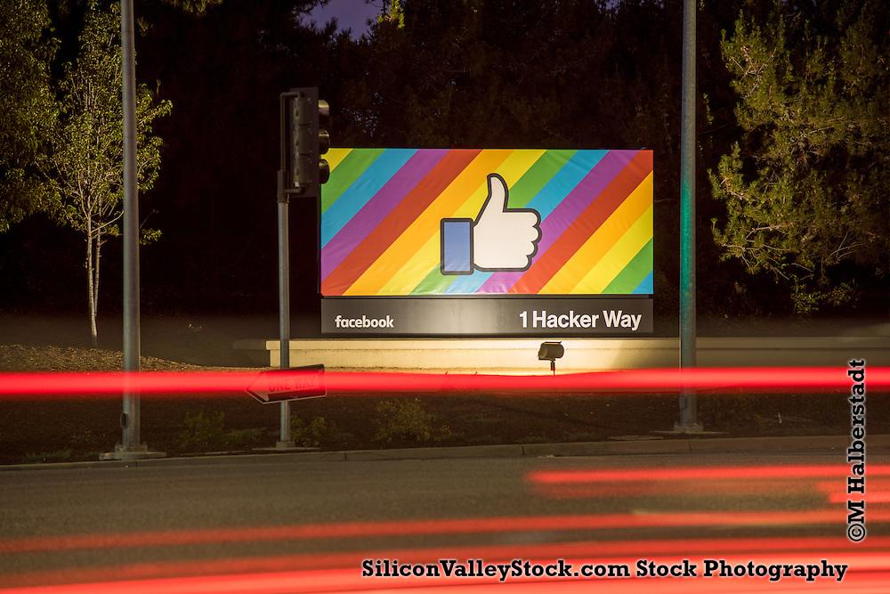 Facebook Sign in Menlo Park, Silicon Valley commemorating Gay Pride 2015