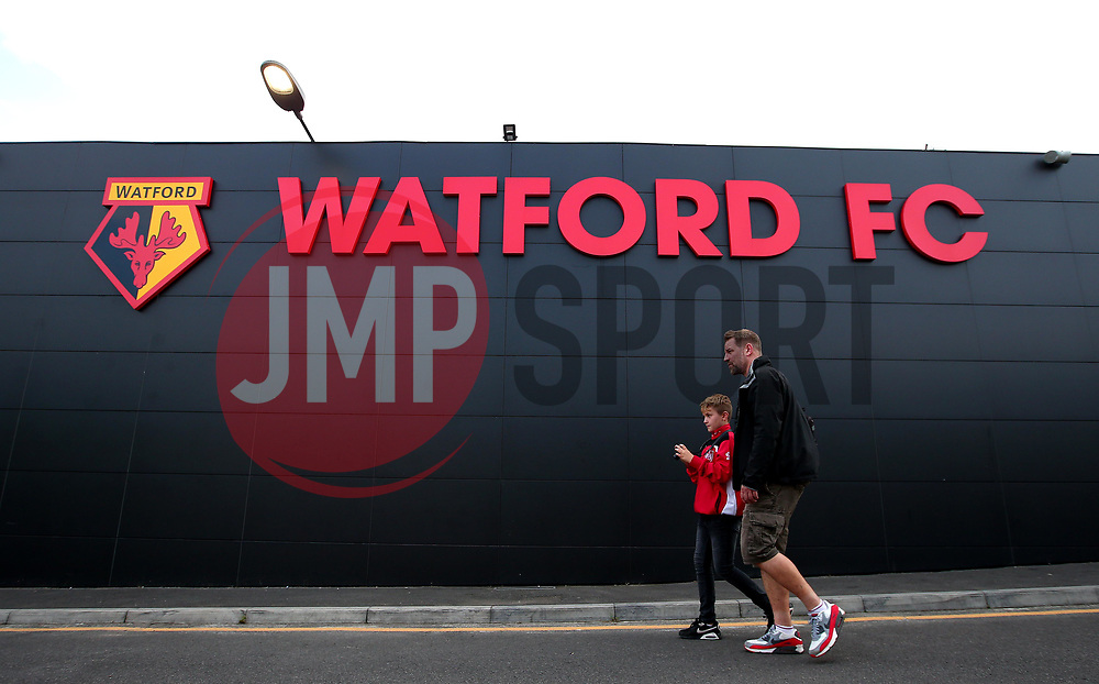 Bristol City fans outside Vicarage Road, for their side's Carabao Cup fixture against Watford - Mandatory by-line: Robbie Stephenson/JMP - 22/08/2017 - FOOTBALL - Vicarage Road - Watford, England - Watford v Bristol City - Carabao Cup