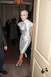 DAPHNE GUINNESS at a party hosted by Justine Picardie, Editor-in-Chief of Harper's Bazaar UK and Glenda Bailey, Editor-in-Chief of Harper's Bazaar US to celebrate the end of London Fashion Week and the biggest-ever March issues of Harper's Bazaar, held at Mark's Club, Charles Street, London on 19th February 2013.