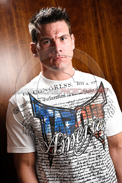 A portrait of mixed martial arts athlete Rory Markham