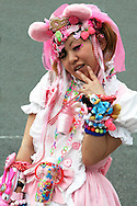 Costume Play Plastic Jewelry - A wide variety of costume play getups goths, cartoon characters from Japanese manga, anime or combinations in between meet up every Sunday in Harajuku, Tokyo's fashion quarter. Many casual observers suppose cosplay is a reaction to rigid rules in Japanese society but since so many cosplayers flock to Harajuku and Aoyama, Tokyo headquarters of Fendi, Hanae Mori and Issey Miyake, others consider that this may be a reaction to high fashion. Whatever the cause, cosplay aficionados put a tremendous amount of effort into their costumes. One can only wonder what they wear on Monday morning to the office or school...