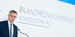 05.06.2019, Erste Campus, Wien, AUT, Voestalpine, Bilanzpressekonferenz zum Geschfäftsjahr 2018/19, im Bild Finanzvorstand Robert Ottel // CFO Robert Ottel during media conference with presentation of the annual results 2018/19 of the Austrian steel manufacturer Voestalpine in Vienna, Austria on 2019/06/05, EXPA Pictures © 2019, PhotoCredit: EXPA/ Michael Gruber