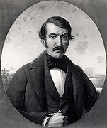 David Livingstone (1830-1873) Scottish missionary and explorer of Africa.  Engraving from 'Missionary Travels and Researches in South Africa' by David Livingstone (London, 1857).