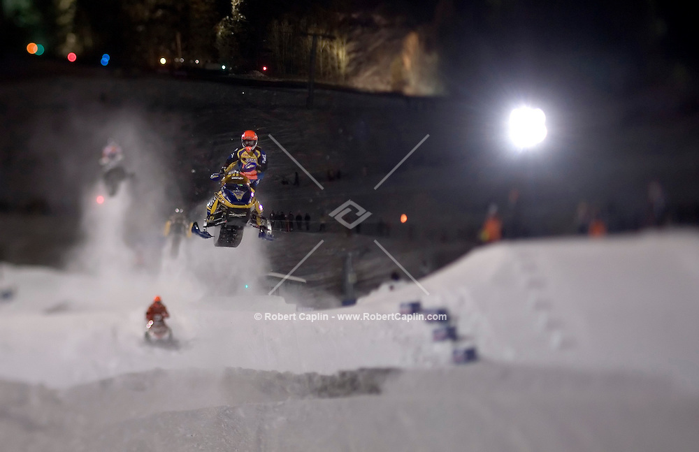 Participants compete in the Winter X Games.