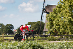 MADSEN Martin Toft from DENMARK during Men Elite Time Trial at 2019 UEC European Road Championships, Alkmaar, The Netherlands, 8 August 2019. <br /> <br /> Photo by Pim Nijland / PelotonPhotos.com <br /> <br /> All photos usage must carry mandatory copyright credit (Peloton Photos | Pim Nijland)