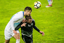 Nemanja Mitrovic of Slovenia during friendly football match between National teams of Slovenia and Belarus, on March 27, 2018 in SRC Stozice, Ljubljana, Slovenia. Photo by Vid Ponikvar / Sportida