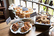 Cakes at period bakery at Den Gamle By, The Old Town, folk museum at Aarhus, Denmark