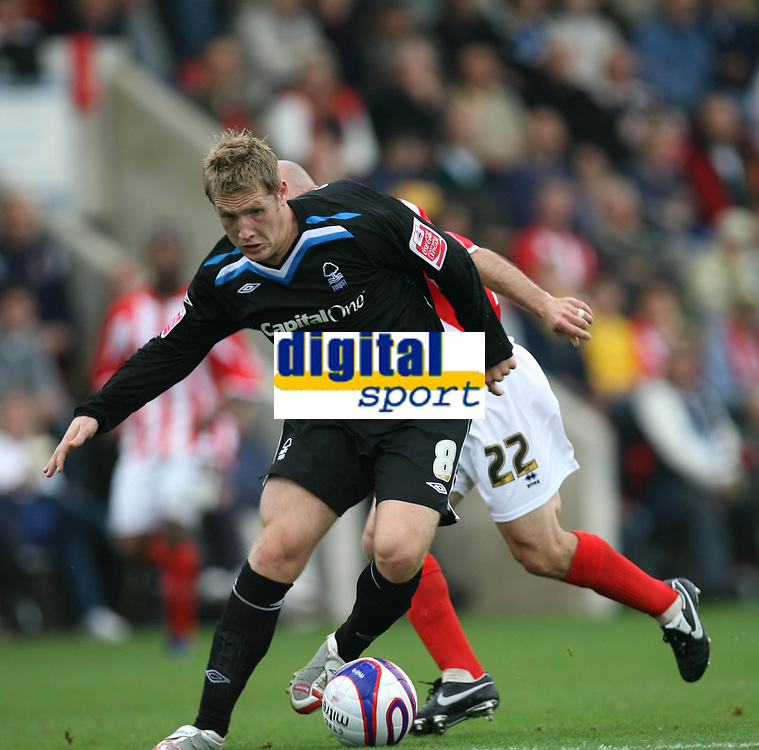 Photo: Rich Eaton.<br /> <br /> Cheltenham Town v Nottingham Forest. Coca Cola League 1. 13/10/2007. Forest's Kris Commons lines up a shot to score late in the first half to make it 2-0.