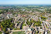 Nederland, Gelderland, Tiel, 30-09-2015; centrum van Tile, gelegen aan rivier De Waal, met Sint-Maartenskerk<br /> City of Tiel, next to river Waal (Rhine).<br /> luchtfoto (toeslag op standard tarieven);<br /> aerial photo (additional fee