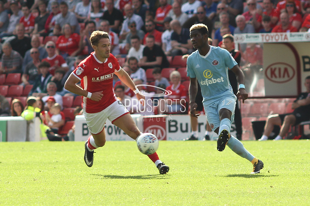 Sunderland midfielder Didier Ndong (17) during the EFL Sky Bet Championship match between Barnsley and Sunderland at Oakwell, Barnsley, England on 26 August 2017. Photo by Justin Parker.