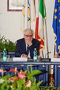 Conferenza stampa per la presentazione del campionato Under 20 che si terr&agrave; a Lignano Sabbiadoro<br /> Nella foto: Gaetano Laguardia<br /> Agenzia Ciamillo/Castoria