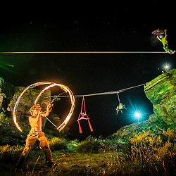 """Lines of Light Project - A collaborative project between Pedro Pimentel Visuals and the """"Aerial Addicts"""" to mix outdoor and circus performances simultaneously while lighting it all with studio light."""