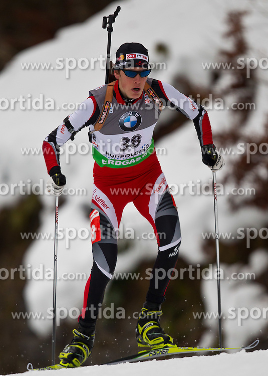 14.01.2011, Chiemgau Arena, Ruhpolding, GER, IBU Biathlon Worldcup, Ruhpolding, Sprint Men, im Bild Tobias Eberhard (AUT) // Tobias Eberhard (AUT) during IBU Biathlon World Cup in Ruhpolding, Germany, EXPA Pictures © 2011, PhotoCredit: EXPA/ J. Feichter