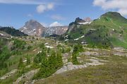 American Border Peak and Yellow Aster Butte. Mount Baker Wilderness, North Cascades Washington