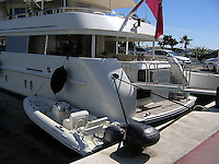 Esperanza, luxury motor yacht, moored at the marina, Puerto Banus, Marbella, Spain. The yacht is registered either in Georgetown, Guyana OR George Town, Grand Cayman, the Capyman Islands. Ref: 200703120008.<br />