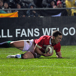 George North in action during the 2017 DHL Lions Series rugby union match between the NZ Maori and British & Irish Lions at Rotorua International Stadium in Rotorua, New Zealand on Saturday, 17 June 2017. Photo: Dave Lintott / lintottphoto.co.nz