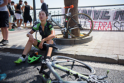 Rossella Ratto recovers after Stage 10 of the Giro Rosa - a 124 km road race, starting and finishing in Torre Del Greco on July 9, 2017, in Naples, Italy. (Photo by Sean Robinson/Velofocus.com)