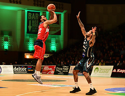 Adam Weary of Bristol Flyers shoots at the basket. - Photo mandatory by-line: Alex James/JMP - 25/02/2018 - BASKETBALL - Plymouth Pavilions - Plymouth, England - Plymouth Raiders v Bristol Flyers - British Basketball League