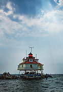 Thomas Point Shoal Lighthouse in MD on Sept, 4, 2011.