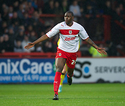 STEVENAGE, ENGLAND - Saturday, November 24, 2012: Stevenage's Bondz N'Gala in action against Tranmere Rovers during the Football League One match at Broadhall Way. (Pic by David Rawcliffe/Propaganda)