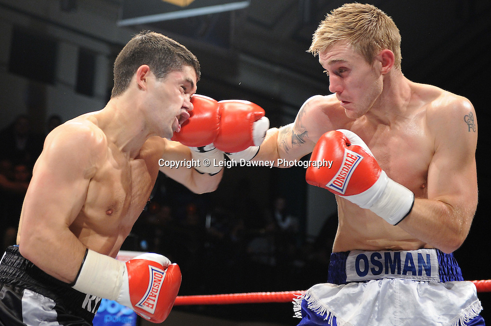 John Ryder defeats Luke Osman in a 6x3min Middleweight contest at York Hall 09.11.11. Matchroom Sport. Photo credit: © Leigh Dawney 2011.