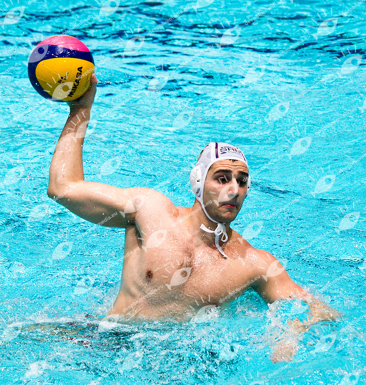 Eindhoven , Netherlands (NED) 16 - 29 January 2012.LEN European  Water Polo Championships 2012.Day 02 - Men.SRB - GER..SRB.5 CUK Milos..Photo G.Scala/Deepbluemedia.eu