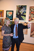 RACHEL JOHNSON; STANLEY JOHNSON, Exhibition opening of paintings by Charlotte Johnson Wahl. Mall Galleries. London, 10 September 2015.