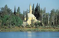 Chypre, Larnaka, Tekké Hala Sultan Mosque // Tekké Hala Sultan Mosque,  Larnaka, Cyprus