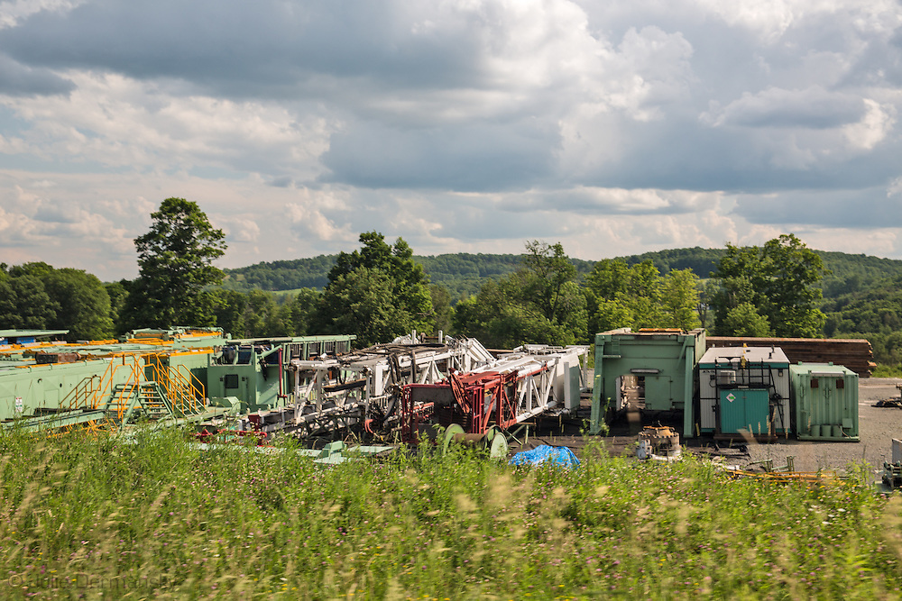 Fracking industry site in Susquehanna County, PA.