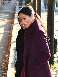 The Duchess of Sussex visits the Hubb Community Kitchen to see how the funds raised by Together: Our Community Cookbook are already making a difference, Al Manaar, West London. Photo credit should read: Doug Peters/EMPICS