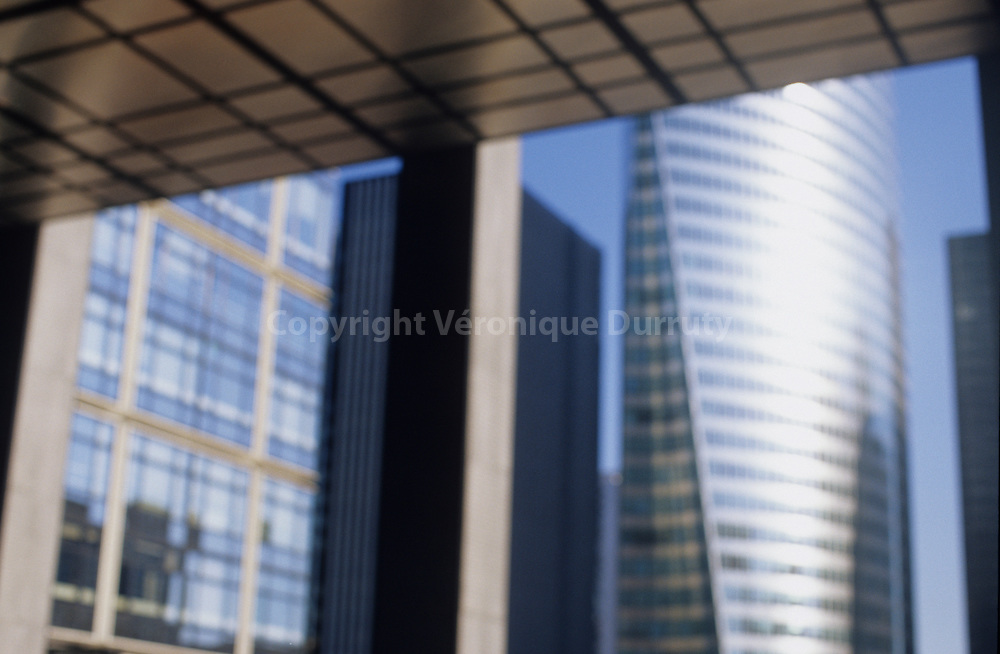 Contemporary architecture in La Defense, the business district of Paris