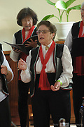 The Italian Womens' Choir performing in the Wesley Chapel, Guildford, as part of the 2018 Guildford Songfest