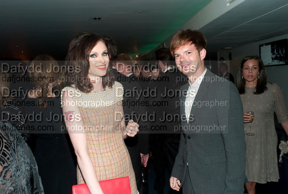 SOPHIE ELLIS BEXTOR; RICHARD JONES, GQ Men of the Year awards. The royal Opera House. Covent Garden. London. 6 September 2011. <br /> <br />  , -DO NOT ARCHIVE-© Copyright Photograph by Dafydd Jones. 248 Clapham Rd. London SW9 0PZ. Tel 0207 820 0771. www.dafjones.com.