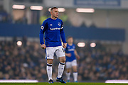 Everton striker Wayne Rooney (10) in action  during the Premier League match between Everton and Swansea City at Goodison Park, Liverpool, England on 18 December 2017. Photo by Simon Davies.