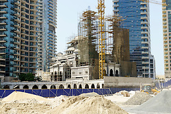 New mosque under construction in Marina district of Dubai United Arab Emirates