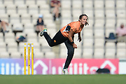 Amelia Kerr of Southern Vipers bowling during the Women's Cricket Super League match between Southern Vipers and Yorkshire Diamonds at the Ageas Bowl, Southampton, United Kingdom on 8 August 2018.