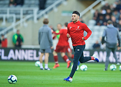 NEWCASTLE-UPON-TYNE, ENGLAND - Saturday, May 4, 2019: Liverpool's Alex Oxlade-Chamberlain during the pre-match warm-up before the FA Premier League match between Newcastle United FC and Liverpool FC at St. James' Park. (Pic by David Rawcliffe/Propaganda)