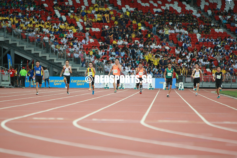National Stadium, Friday, April 29, 2016 &ndash; Rainer Lee of Singapore Sports School took home the gold medal after clocking 11.36 seconds in the C Division boys&rsquo; 100m final at the 57th National Schools Track and Field Championships.<br />