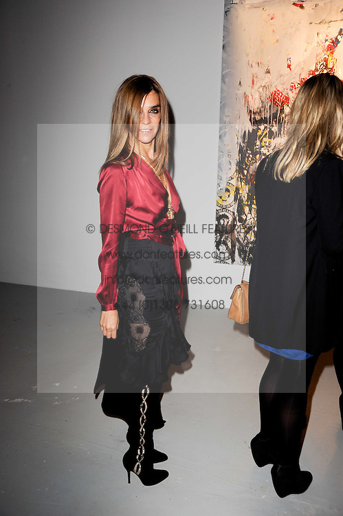 Carine Roitfeld at a private view of Nicolas Pol's paintings entitled 'Mother of Pouacrus' held at The Dairy, Wakefield Street, London WC1 on 14th October 2010.