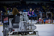 KELOWNA, CANADA - MARCH 07:  Orchard Park Zamboni Rider at the Kelowna Rockets game on March 07, 2018 at Prospera Place in Kelowna, British Columbia, Canada.  (Photo By Cindy Rogers/Nyasa Photography,  *** Local Caption ***