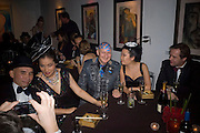 PATTI WONG, STEPHEN JONES, Patti and Andy Wong  host a night of Surrealism to Celebrate the Chinese Year of the Rat. County Hall Gallery and Dali Universe. London. 27 January 2008. -DO NOT ARCHIVE-© Copyright Photograph by Dafydd Jones. 248 Clapham Rd. London SW9 0PZ. Tel 0207 820 0771. www.dafjones.com.
