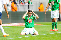 Deception Romain HAMOUMA - 26.04.2015 - Saint Etienne / Montpellier - 34eme journee de Ligue 1<br />
