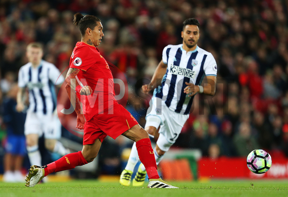 Roberto Firmino of Liverpool - Mandatory by-line: Matt McNulty/JMP - 22/10/2016 - FOOTBALL - Anfield - Liverpool, England - Liverpool v West Bromwich Albion - Premier League
