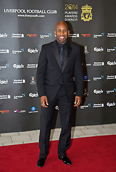 LIVERPOOL, ENGLAND - Tuesday, May 6, 2014: DJ Spoony arrives on the red carpet for the Liverpool FC Players' Awards Dinner 2014 at the Liverpool Arena. (Pic by David Rawcliffe/Propaganda)