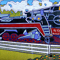 R J Corman Railway Locomotive Mural by Jennifer Zingg in Frankfort, Kentucky<br />