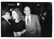 Regis Philbin, Claudia Cohen and Al D'Amato. In Search of Clarity. Racquet & Tennis Club. NY. 17 April 1995. © Copyright Photograph by Dafydd Jones 66 Stockwell Park Rd. London SW9 0DA Tel 020 7733 0108 www.dafjones.com